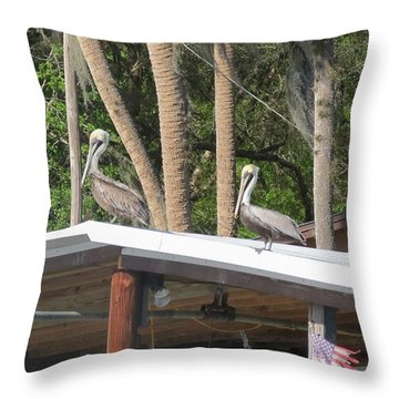 Throw Pillow featuring the photograph The Lineup by Fortunate Findings Shirley Dickerson