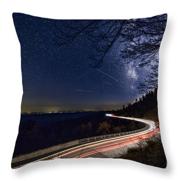 The Linn Cove Viaduct Milky Way Throw Pillow