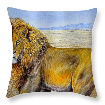 The Lion Rules Throw Pillow