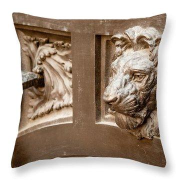 The Lion's Head Door Throw Pillow