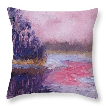 Throw Pillow featuring the painting The Lion's Last Breath by Jason Williamson