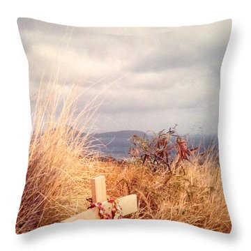 The Little Cross Throw Pillow by Carla Carson