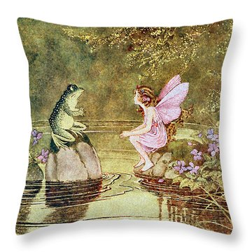 The Little Green Road To Fairyland  Throw Pillow