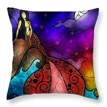 The Little Mermaid Throw Pillow by Mandie Manzano