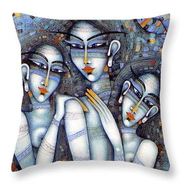 the little mermaids of Andersen Throw Pillow