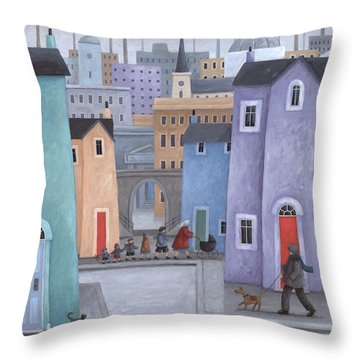 The Little Ones Throw Pillow by Peter Adderley