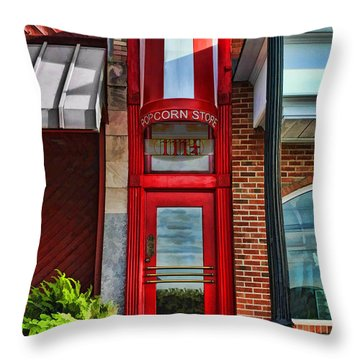 The Little Popcorn Shop In Wheaton Throw Pillow