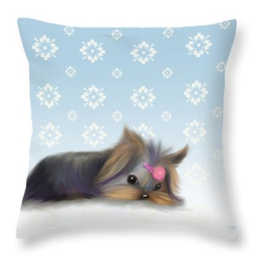 The Little Thinker  Throw Pillow by Catia Cho