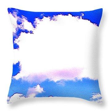 The Little White Cloud That Cried Throw Pillow by Sadie Reneau