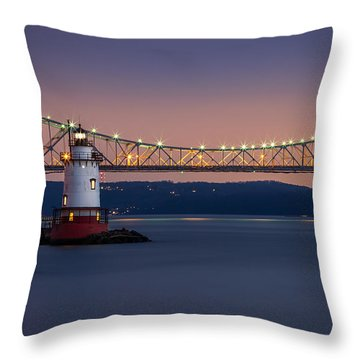 The Little White Lighthouse Throw Pillow