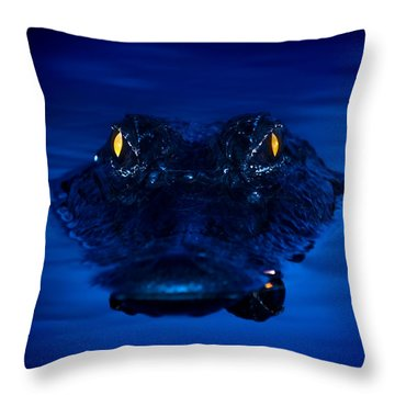The Littlest Predator Throw Pillow by Mark Andrew Thomas