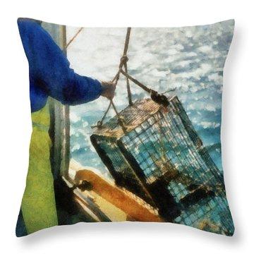 The Lobsterman Throw Pillow