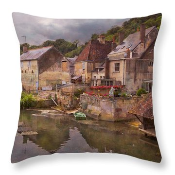 The Loir River Throw Pillow by Debra and Dave Vanderlaan