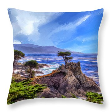 The Lone Cypress Throw Pillow by Dominic Piperata