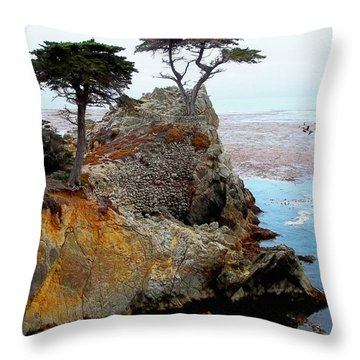The Lone Cypress - Pebble Beach Throw Pillow by Glenn McCarthy Art and Photography