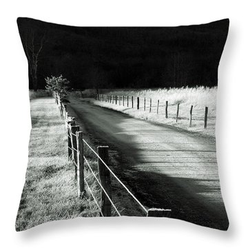 The Lone Photographer Throw Pillow by Douglas Stucky