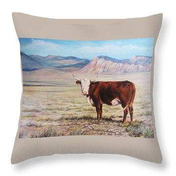 The Lone Range Throw Pillow