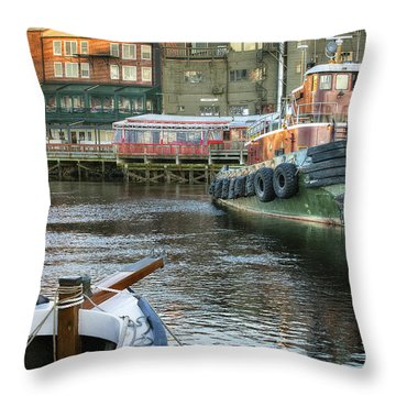 The Lone Tug Throw Pillow by Eric Gendron