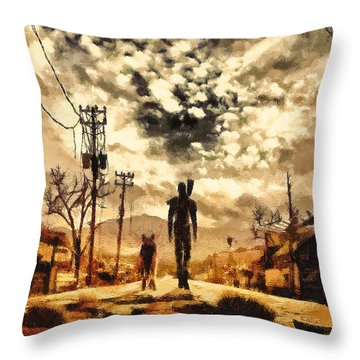 The Lone Wanderer Throw Pillow by Joe Misrasi