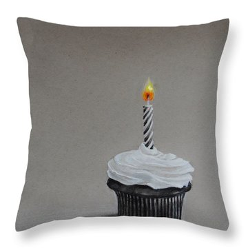 The Loneliest Birthday Ever Throw Pillow by Jean Cormier