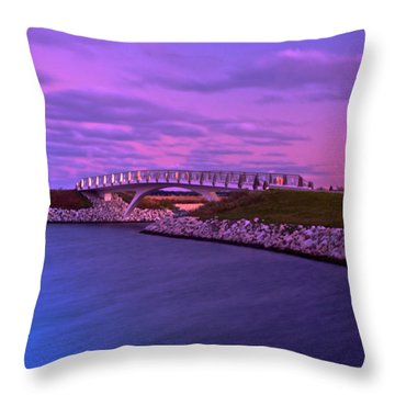 Throw Pillow featuring the photograph The Lonely Bridge by Jonah  Anderson