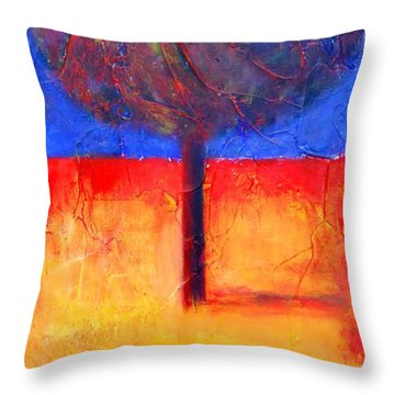 The Lonely Tree In Autumn Throw Pillow