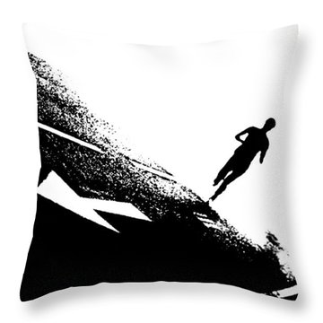 The Long Distance Runner Throw Pillow