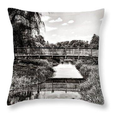 The Long Footbridge Throw Pillow