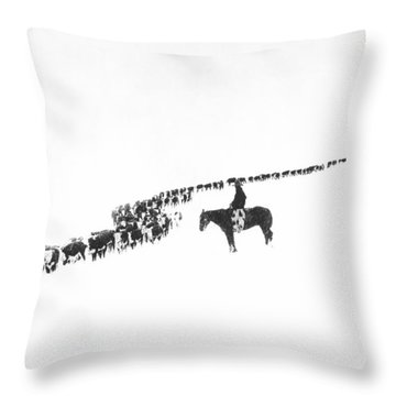 The Long Long Line Throw Pillow