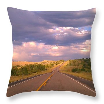 Throw Pillow featuring the photograph The Long Road Home by Chris Tarpening