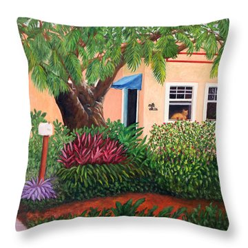 Throw Pillow featuring the painting The Long Wait by Karen Zuk Rosenblatt