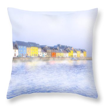 The Long Walk In A Galway Fog Throw Pillow by Mark Tisdale