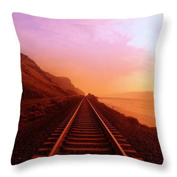 Train Tracks Throw Pillows