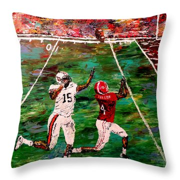 The Longest Yard Named  Throw Pillow by Mark Moore