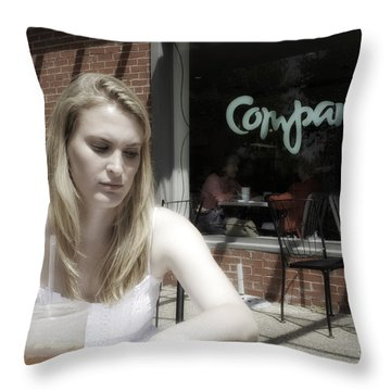 The Look 6 Throw Pillow by Madeline Ellis