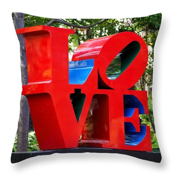 The Look Of Love Throw Pillow by Rona Black