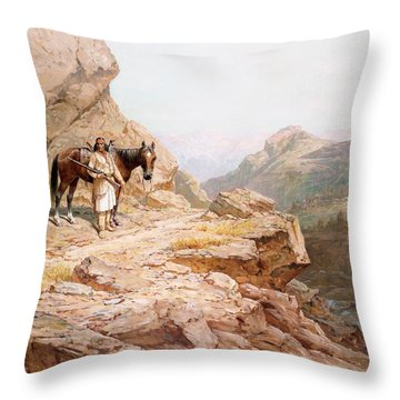 The Look Out Throw Pillow by Henry Raschen