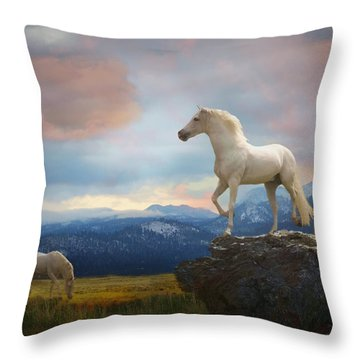 The Look Out Throw Pillow