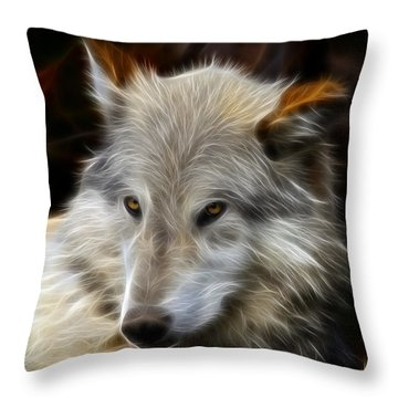 The Look Throw Pillow by Steve McKinzie