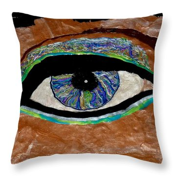 The Looker Throw Pillow