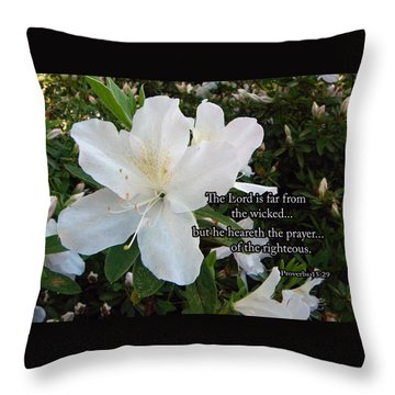 The Lord Hears Throw Pillow