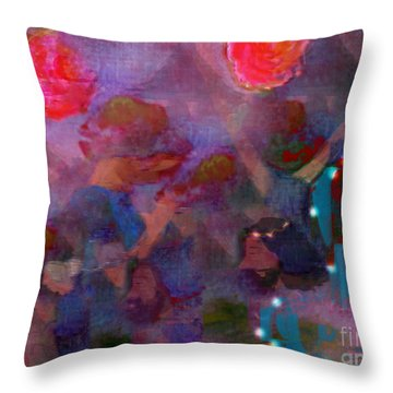 The Lord Thy God In The Midst Of Thee Is Mighty  Throw Pillow by Deborah Montana