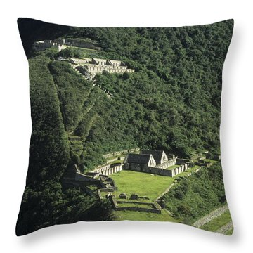 The Lost City Of Choquequirao Throw Pillow