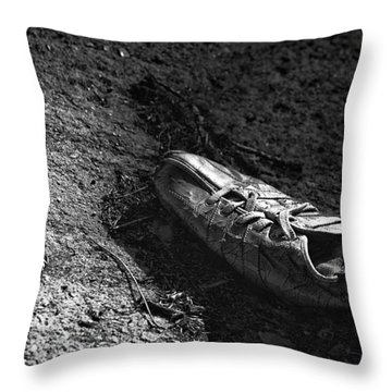 The Lost Shoe Throw Pillow by Jason Politte