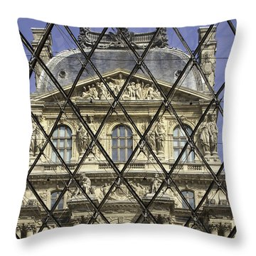 The Louvre From The Pyramid Throw Pillow