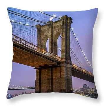 Throw Pillow featuring the photograph The Love Of Brooklyn  by Anthony Fields