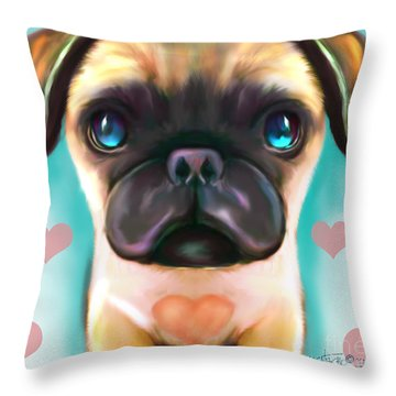 The Love Pug Throw Pillow