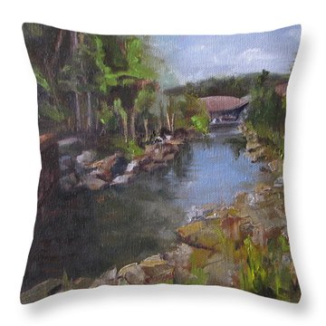 The Love Trail Throw Pillow