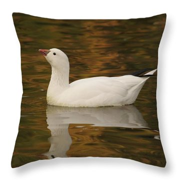 The Lovely Snow Throw Pillow