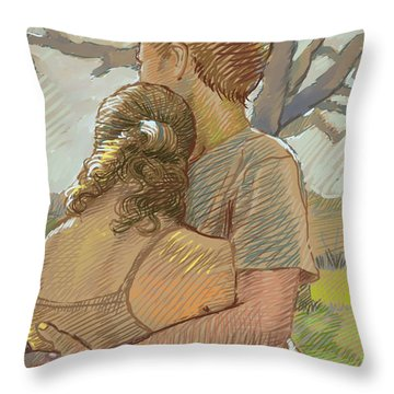 The Lovers Throw Pillow